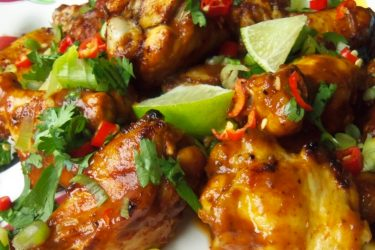 Tamarind and Chile Chicken Wings, photo by Sonia Mendez Garcia