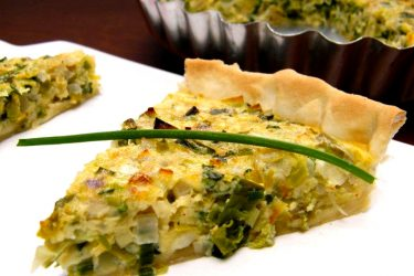 Tarta de Puerros (Leek Tart), photo by Katie Metz de Martinez