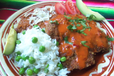 Tres Chiles Pork Milanesa (Mom's Recipe), photo by Sonia Mendez Garcia