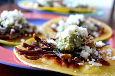 Beef Chalupas, photo by Sonia Mendez Garcia