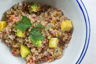 Quinoa Nopales Lunch Bowl, photo by Fernanda Alvarez