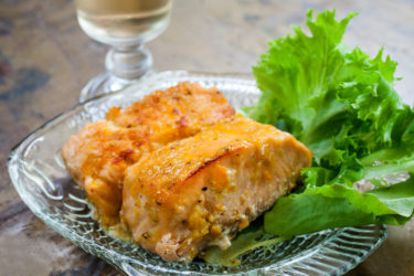 Baked Salmon with Aji Amarillo Sauce, photo by Fernanda Alvarez