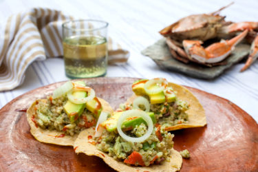 Crab and Quinoa Tostada, photo by Fernanda Alvarez