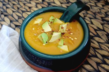 Butternut Squash Avocado Soup, photo by Suellen Pineda, RDN, CDN