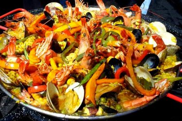 Mixed Seafood Paella, photo by Denisse Oller