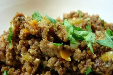 Picadillo a la Mexicana (Ground Beef Mexican Style), photo by Anamaris Cousins Price
