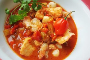 Seafood Stew with Mexican Chorizo, photo by Sonia Mendez Garcia