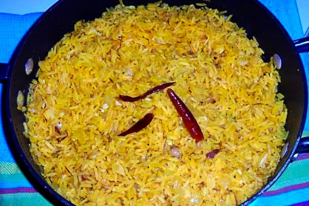 Yellow Saffron Rice Recipe Saffron Tumeric Rice Side Dish