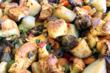 Mexican Chorizo Potato Stuffing, photo by Sonia Mendez Garcia