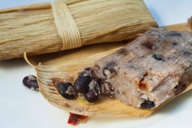 Black Bean Tamal with Chile Pasilla, photo by Sonia Mendez Garcia