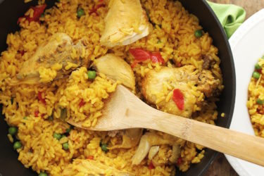 Traditional Arroz con Pollo, photo by Sedano's
