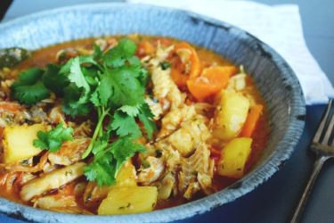 Bacalao Guisado (Salted Cod Stew), photo by Suellen Pineda, RDN, CDN