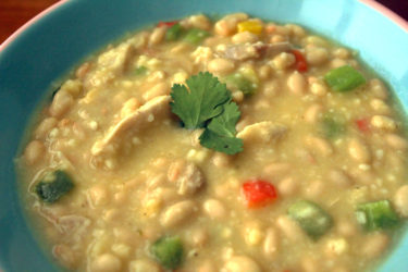White Bean Turkey Chili, photo by Santiago Gomez de la Fuente