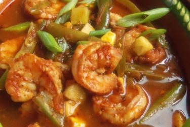 Caldo de Camarones (Shrimp and Vegetable Soup), photo by Sonia Mendez Garcia