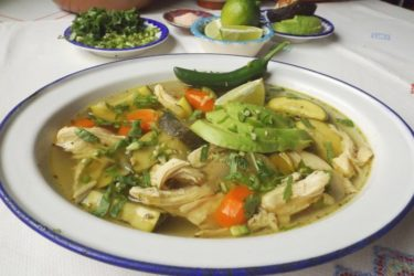 Caldo de Pollo (Slow Cooker Mexican Chicken Soup), photo by Sonia Mendez Garcia