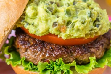 Chipotle Burger With Chile Poblano and Avocado, photo by Fresh Avocados - Love One Today