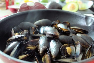 Jalapeño and Tequila Steamed Mussels for Two, photo by Fernanda Alvarez
