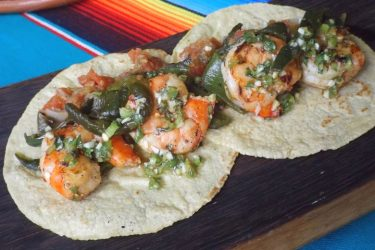 Poblano Shrimp Tacos, photo by Sonia Mendez Garcia