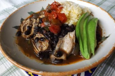 Smoky Chicken and Black Beans, photo by Sonia Mendez Garcia