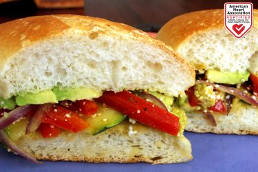 Avocado and Grilled Veggie Torta Recipe, photo by Fresh Avocados - Love One Today