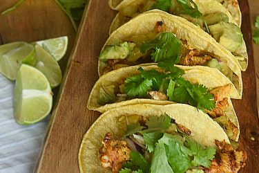 Annatto Grilled Chicken Tacos With Pineapple and Avocado, photo by Suellen Pineda, RDN, CDN