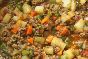 Veggie and Beef Picadillo, photo by Sonia Mendez Garcia