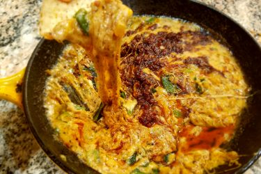 Mexican Queso Fundido with Chorizo Appetizer for Super Bowl Sunday, photo by Hispanic Kitchen