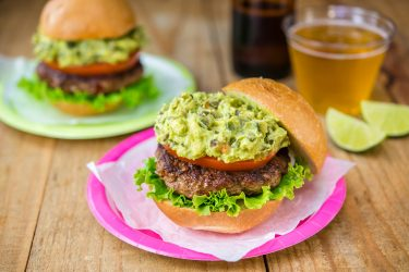 Chipotle Avocado Burger with Chile Poblano, photo by Fresh Avocados - Love One Today