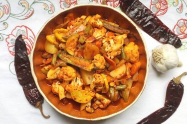 Verduras en Chileajo (Veggies in a Chile-Garlic Sauce), photo by Sonia Mendez Garcia