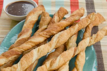 Dulce de Leche and Mexican Hot Chocolate Fondue Pastry Twists, photo by Hispanic Kitchen