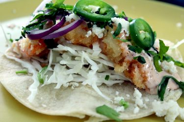 Baja California-Style Shrimp Tacos, photo by Fernanda Alvarez