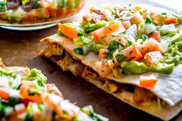 Lightning-Quick Chicken Guacamole Quesadillas, photo by Mexican Please