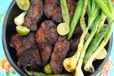 Costillas Adobadas Asadas (Grilled Pork Ribs), photo by Sonia Mendez Garcia
