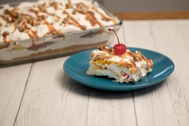 No-Bake Banana Split Cake, photo by Hispanic Kitchen