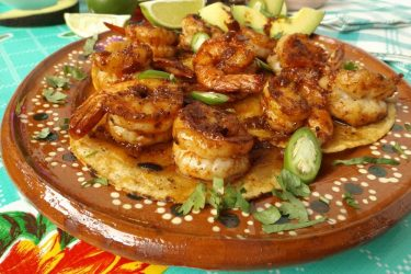 Camarones Enchilados (Spicy Chile Shrimp), photo by Sonia Mendez Garcia