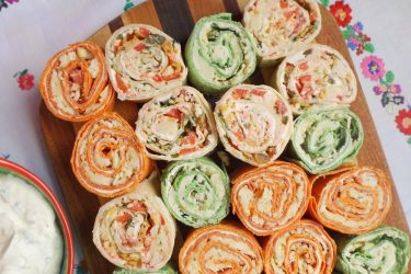 Cheese and Bean Tortilla Roll-Ups (Pinwheels), photo by Sonia Mendez Garcia