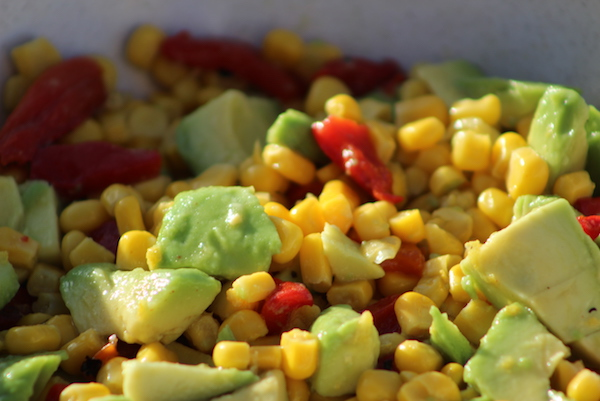 Sweet Corn And Roasted Red Pepper Salad