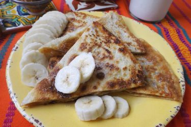 Peanut Butter & Banana Quesadillas with Dulce de Leche, photo by Sonia Mendez Garcia