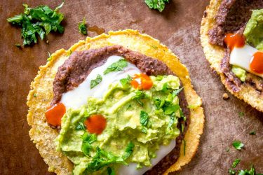 Black Bean and Guacamole Tostadas, photo by Mexican Please