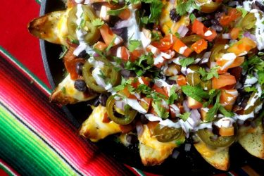 Potato Skin Nachos, photo by Sonia Mendez Garcia