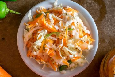 Spicy Curtido (Pickled Cabbage Slaw), photo by Mexican Please
