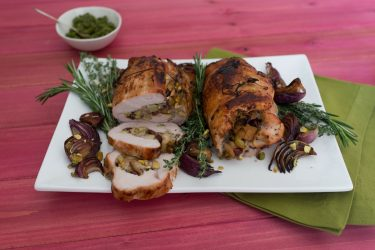 Turkey Roulade with Wonderful Pistachio Pesto, photo by Hispanic Kitchen