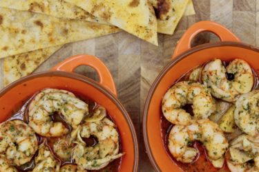 Sizzling Gambas al Ajillo (Garlic Shrimp), photo by Jennifer Rice