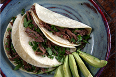 Beef Brisket Tacos, photo by Yvette Marquez-Sharpnack